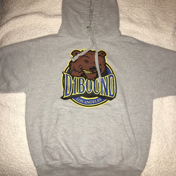 Small D1 Bound Grey Hoodie